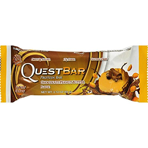 Quest Bar, Bar Chocolate Peanut Butter, 2.12 Ounce ()