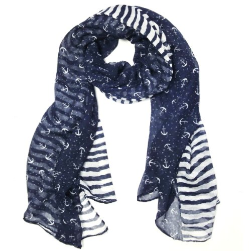 Wrapables Stripes Anchor Nautical Marine