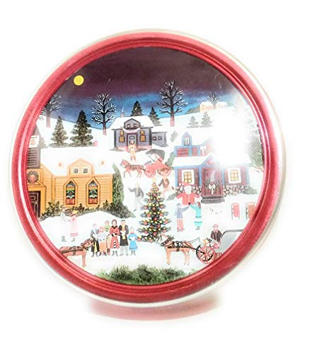Christmas Gift Cookies - Christmas Holiday Butter Cookies Tin (Village Scene)