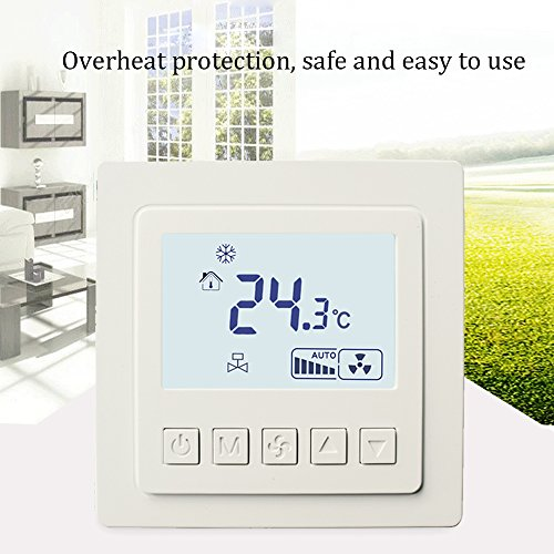 AMZVASO - Full-featured Thermostat Central Air Conditioning Switch Thermometer Intelligent Control Pane Room Temperature Controller LED