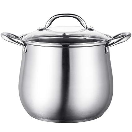 DUDDP Batería de Cocina Olla de Sopa de Olla 304 Olla de ...