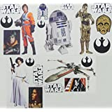 """Star Wars FATHEAD Set of 20 Vinyl Wall Graphics Re-Usable and Removable Decals: Luke Skywalker, R2-D2, C-3PO, Princess Leia, Rebel X-Wing Fighter (Main Graphics 7"""" INCH EACH)"""