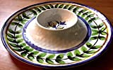 Chips & Salsa Dish Plate Dip Bowl With Tray Salsa Tortilla Dish JUMBO Family Size