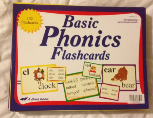 Abeka Book Basic Phonics Flashcards Grades K-3 for sale  Delivered anywhere in USA