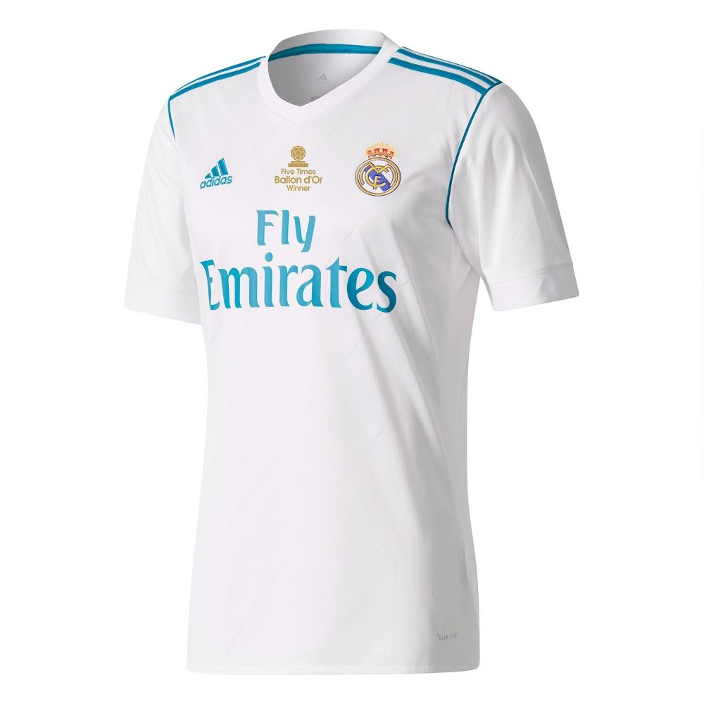 Real Madrid Home Trikot 2017 2018 inkl 5x Ballon d'Or Druck - XL