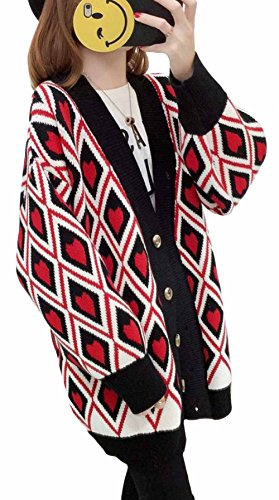MengFan カーディガン 春 レディース 長袖 ニット ロング丈 コート バイカラー シンプル トップス ゆったり 体型カバー アウター 韓国 ファッション 可愛い 復古