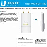 Ubiquiti RocketM5 Outdoor BaseStation 50+km + AM-5G16-120 5GHz Sector 16dBi 120