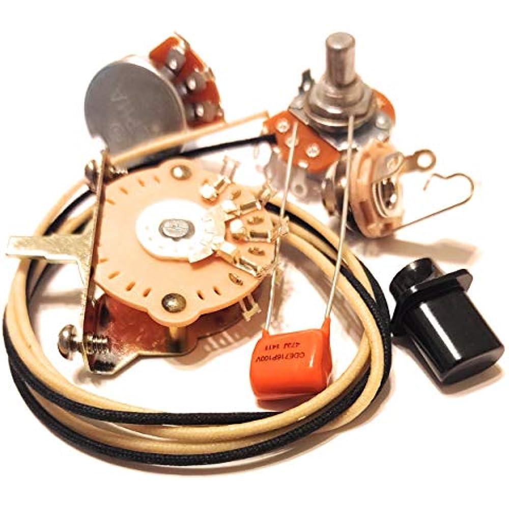 Guitar Wiring Kit Orange Drop .047uf Tone Cap 250K Pots wire fits a Fender Strat