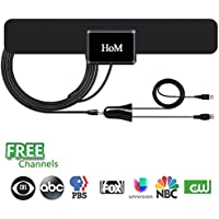 HDTV Antenna,Indoor TV Antenna 50 Mile Range with Detachable Amplifier Signal Booster and 10ft Coaxial Cable