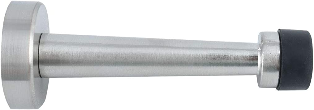 Ground Mount Self-stick Tape Silver Tone uxcell Magnetic Door Stops Zinc Alloy Soft Catch-Door Holder Doorstop Wall Mount