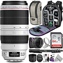 [Patrocinado] Canon EF 100–400mm f/4.5–5.6L IS II USM Lente w/Kit de uv-cpl-nd4fotográfico esencial Bundle–Incluye: Altura, el control y cámara Juego de limpieza