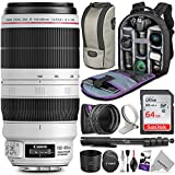 Photo : Canon EF 100-400mm f/4.5-5.6L is II USM Lens w/Advanced Photo and Travel Bundle - Includes: Altura Photo Backpack, UV-CPL-ND4, Monopod and SD Card