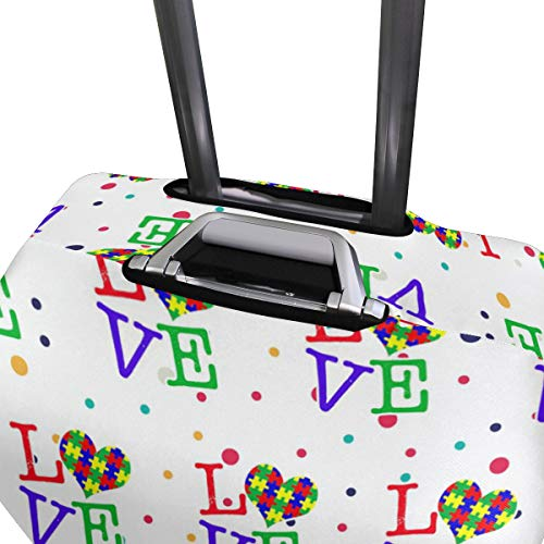 Love Heart Travel Luggage Cover - Suitcase Protector HLive Spandex Dust Proof Covers with Zipper, Fits 18-32 inch by HLive (Image #3)