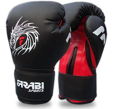 Farabi Sports Guantes de boxeo piel diseño de dragón
