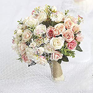 Wedding Bouquet Handmade Artificial Flower Rose Wedding Bridal Bouquet for Wedding Decoration Ramos De Novia 33