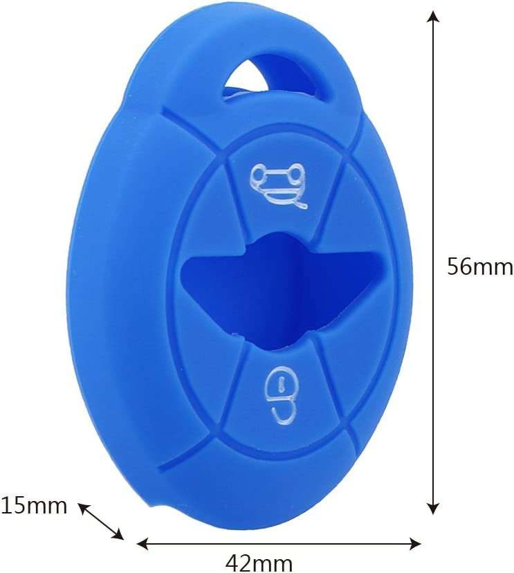 iTimo Car Silicone Key Case for BMW Mini Cooper S R50 R53 2 Buttons