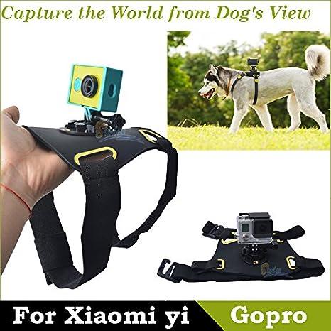 MU Por GoPro Xiaomi yi Hound Dog Fetch arnés ajustable Cinturón de pecho de la correa