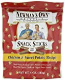 Newman's Own Organics Dog Snack Sticks, Chicken and Sweet Potato, 4 Ounce (Pack of 6), My Pet Supplies