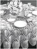 #0473 PINEAPPLE - ROUND TABLECLOTH VINTAGE CROCHET PATTERN