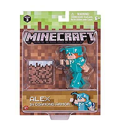 Minecraft Series 3 Wave 1 Alex with Diamond Armor Pack from Jazwares - Import