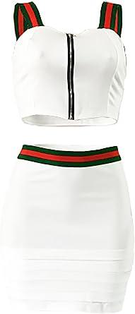 Mujer Verano Falda y Top Camisola Camisa Falda Conjunto ...