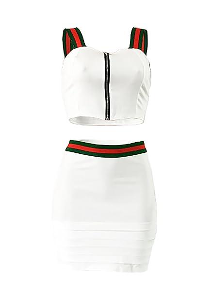 Mujer Verano Falda y Top Camisola Camisa Falda Conjunto, Camiseta ...