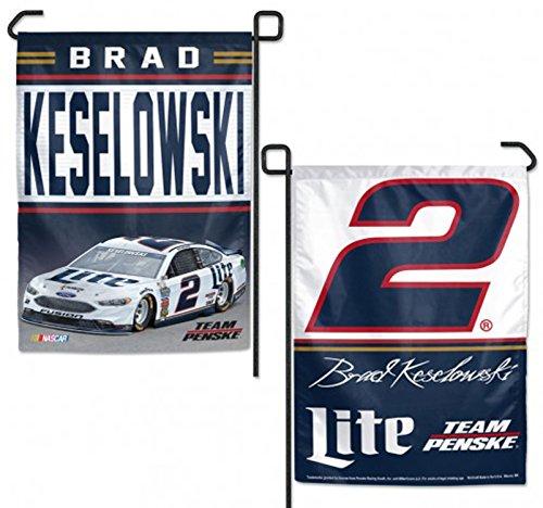 WinCraft NASCAR Brad Keselowski 12x18 Garden Style 2 Sided Flag, One Size, Team Color