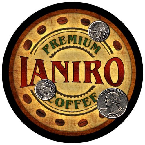 Ianiro Family Name Coffee Rubber Drink Coasters - 4 for sale  Delivered anywhere in USA