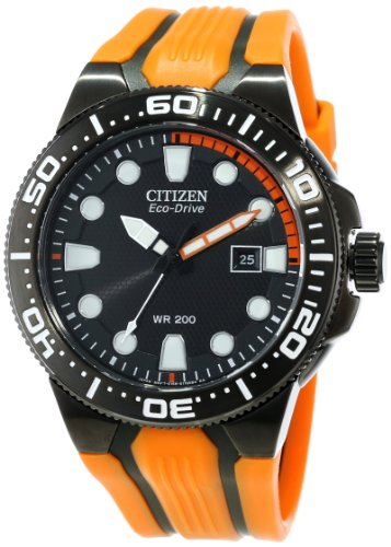 "Price comparison product image Citizen Men's BN0097-11E ""Scuba Fin"" Stainless Steel Eco-Drive Dive Watch"