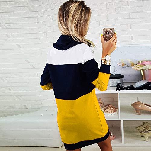 Tricot Fille Short À Mini Pour Pull Longue Elecenty Automne Longues Manches Femme Bodycon Hiver Dress Ladies Robe Col Tops Casual Jaune Roulé fn0BwqOR