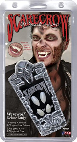 Scarecrow Werewolf Deluxe Custom Fangs (Prosthetic Clown Costume)