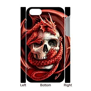 3D Bumper Plastic Case Of Red Dragon customized case For Iphone 5c