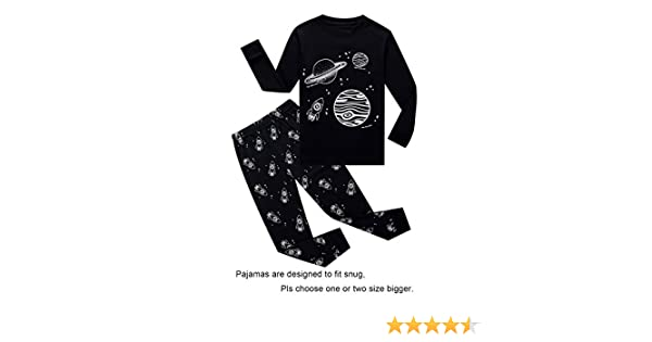 Amazon.com: IF Pajamas Boys Sleepwear Pajama Set, 7 - Black/Space: Home & Kitchen