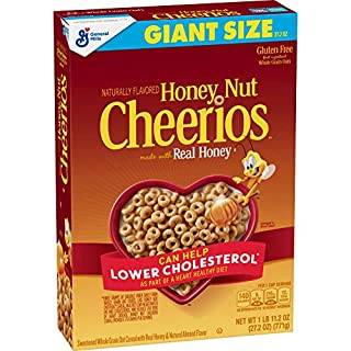 Honey Nut Cheerios, Cereal with Oats, Gluten Free, 27.2 oz