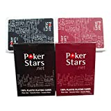 Tsptool 2pcs/set Waterproof Poker Star Texas Washable Poker Plastic Playing Cards for Club