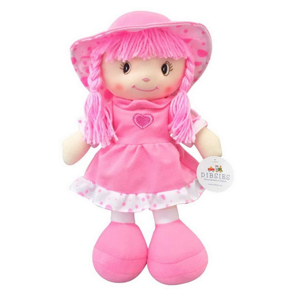 Dibsies Sweetheart Cuddle Doll - 14 Inch (Pink)