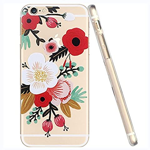iPhone 5 / 5S / Se Compatible, Deco Fairy Ultra Slim Translucent Silicone Clear Case Gel Cover for Apple (Anemone Clear iPhone 5 / 5S / (Gold Disney Iphone 5s Case)
