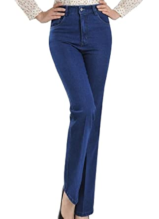 15f5ef03e6d Vska Women s Cotton Highwaist Straight Comfy Plus Size Denim Pants at Amazon  Women s Jeans store