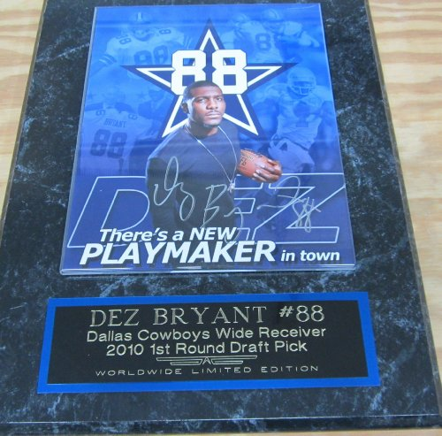 Cowboys Dez Bryant Autographed 8x10 Photo w/Plaque and Certificate of Authenticity