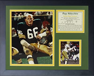 "Legends Never Die ""Ray Nitschke"" Framed Photo Collage, 11 x 14-Inch"