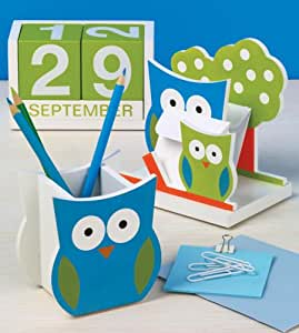 Design Ideas 3484211 Owl Office Desk Set