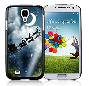 Custom Samsung S4 TPU Protective Skin Cover Christmas Eve Black Samsung Galaxy S4 i9500 Case 2