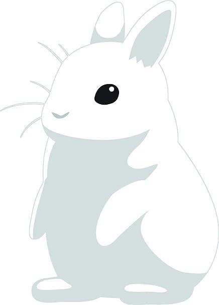 61fa267dbf9 Amazon.com: Cute Baby Bunny Rabbit White Fluffy Animal Cartoon Vinyl Sticker  (12