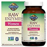 Garden of Life Vegetarian Digestive Supplement for Women - Raw Enzymes for Digestion, Bloating, Gas, and IBS, 90 Capsules