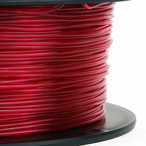 PETG 3D Printer Filament,Dimensional Accuracy +/- 0.05 mm, 1kg / 2.2lbs Spool for 3D Printers-- (1.75mm, Transparent Red) by Evergreen Tree (Image #1)
