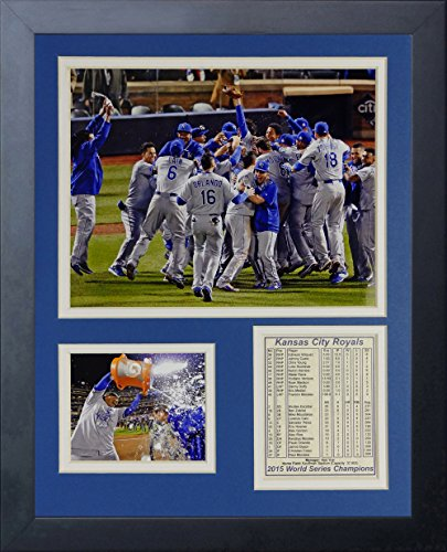 Legends Never Die MLB Kansas City Royals 2015 World Series Champions Celebration Framed Photo Collage, 11