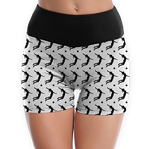 Yoga Women's Power Flex Volleyball Spike Yoga Short Pants Activewear Lounge - Candid Volleyball