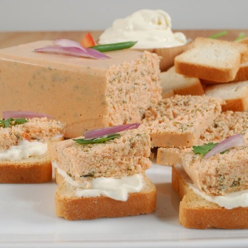 Smoked Salmon And Spinach Mousse Pate, All Natural - 4 pcs. x 7 oz (198 gr)