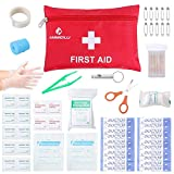 Small Travel First Aid Kit - 87 Piece Clean, Treat and Protect Most Injuries,Ready for Emergency at Home, Outdoors, Car, Camping, Workplace, Hiking. Larger Image