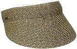 SCALA Women's Paper Braid Visor (One Size, Coffee/Black)